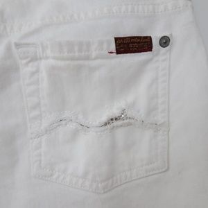 7 For All Mankind DOJO Crystal Pocket White 25 NWT
